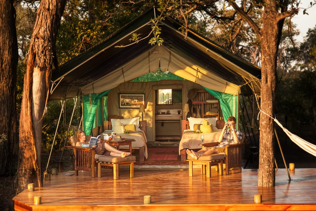 Luxe tent op safari in Botswana