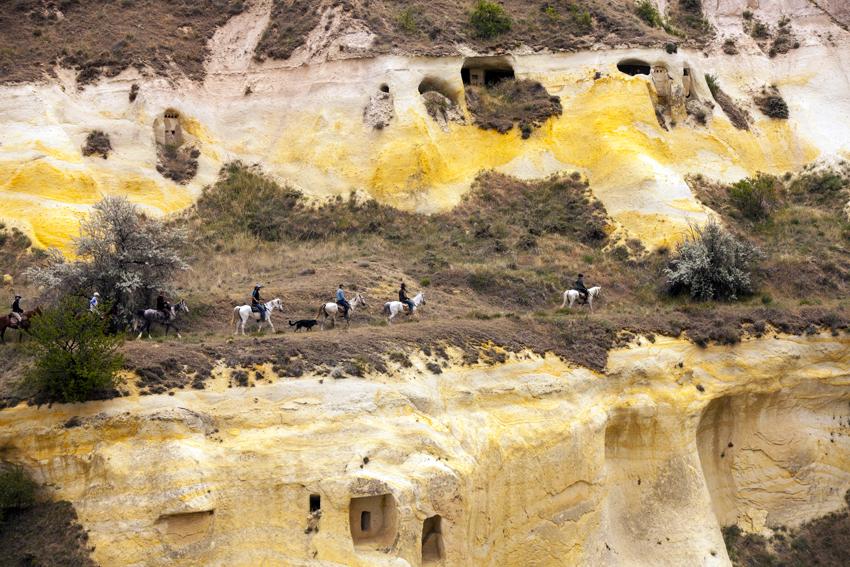 Paardrijden in Cappadocië Turkije