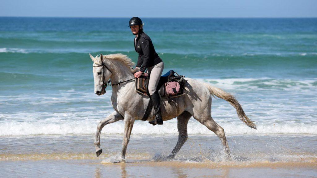 Paardrijvakantie op het strand in Frankrijk