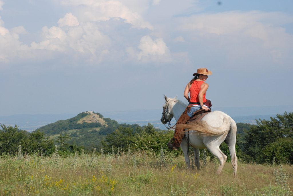 Cowgirl in Toscane