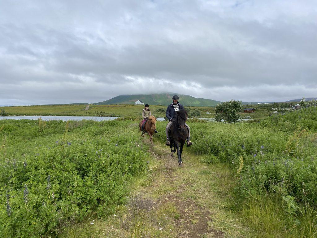 Buitenritten op IJslanders